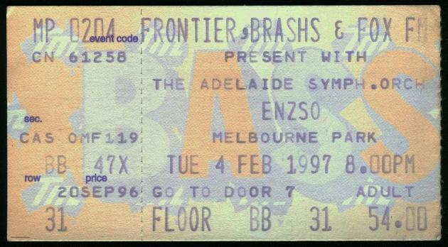 ENZSO-Melbourne Park-Melbourne-4-Feb-1997-ticket-DC Cardwell