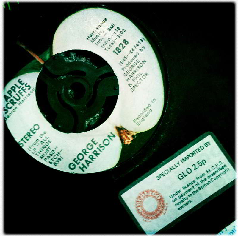 Marjorie's George Harrison's single-Apple Scruffs