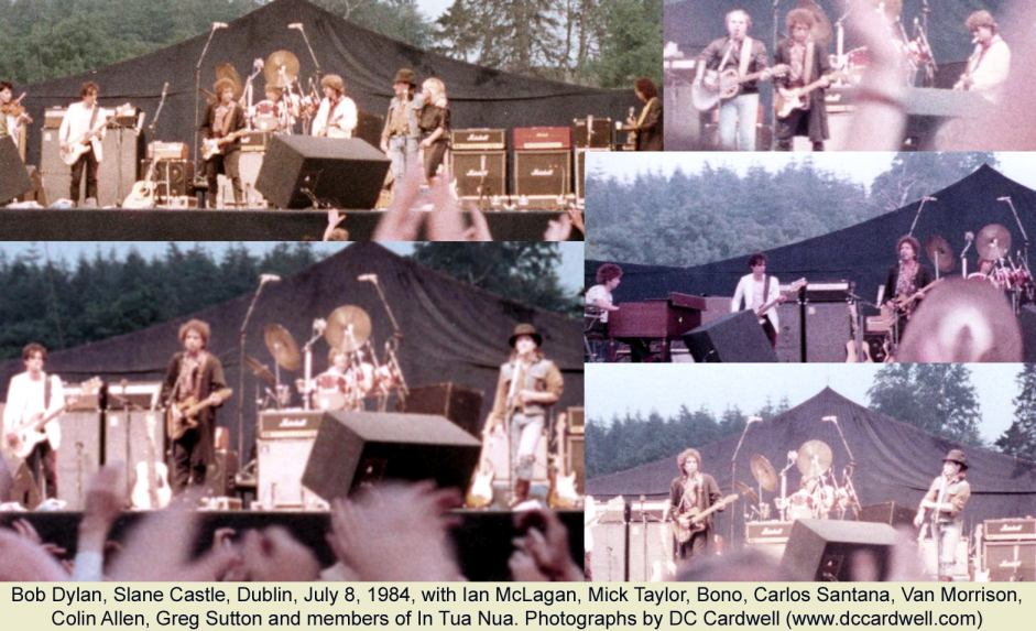 Bob Dylan at Slane Castle, Dublin,1984 - photos by DC Cardwell